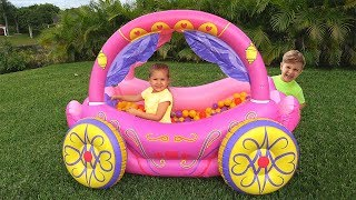 Video Diana Pretend Play with Princess Carriage Inflatable Toy MP3, 3GP, MP4, WEBM, AVI, FLV Februari 2019