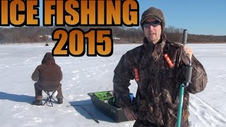 ICE FISHING 2015 Fishing Lake Kahle - Cloe - Justus&Buzzard Swamp