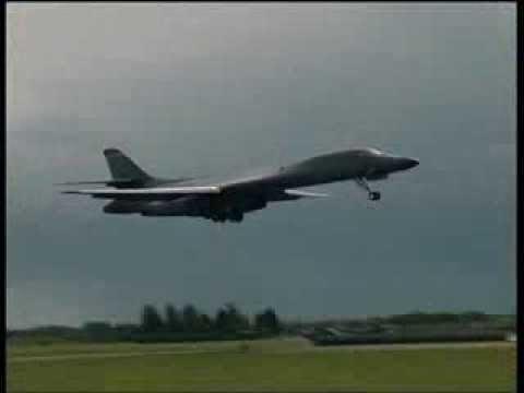 Rockwell B-1 Lancer Filmed At RAF...