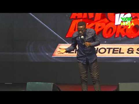 Comedian pulls off 13 pairs of pants live on stage at Akpororo vs Akpororo