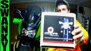 10. NEW Cyclops LED Headlight Review   KLR650
