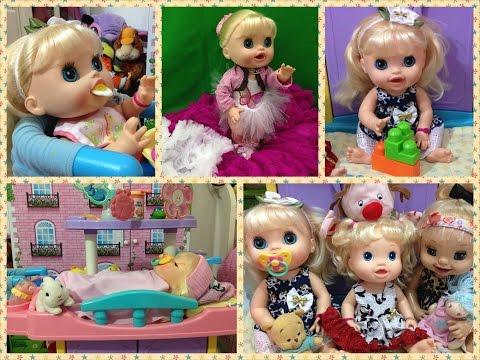 julia - Nesse video eu mostro como eu cuido da minha Baby Alive Comer e Brincar Katie e um pouco da rotina dela: Acordar; Tomar Leite; Brincar; Lanchar; Tomar Banho;...