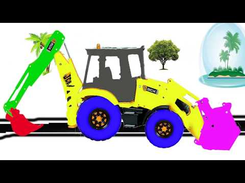 Video Colors Learn Childrens JCB excavator Toys Coloring For Kids - Children video download in MP3, 3GP, MP4, WEBM, AVI, FLV January 2017
