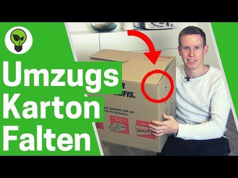 Umzugskarton falten ✅ ULTIMATIVE ANLEITUNG: Karton & Umzugskartons zusammenbauen & zusammenfalten!!!