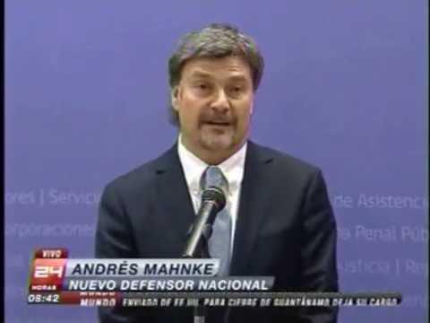 TVN: Presidenta Bachelet nombra al abogado Andrés Mahnke como nuevo Defensor Nacional.