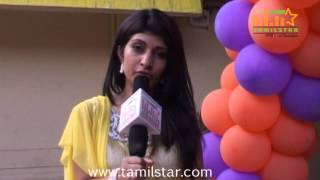 Nisha Speaks at Kadhalukku Kanillai Audio Launch