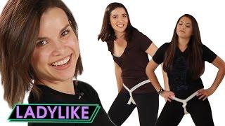 Women Try Vintage Period Belts • Ladylike