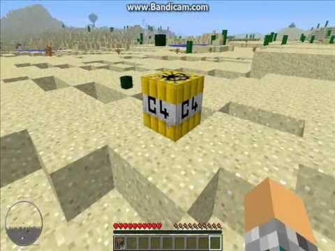 MineCraft: More explosives mod