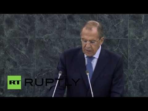 Выступление Сергея Лаврова на Генеральной Ассамблее ООН (видео)