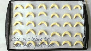 Crescent butter biscuits