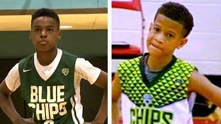 Lebron James jr vs Steph Curry jr (aka Camron Amboree) Basketball Highlights Mix