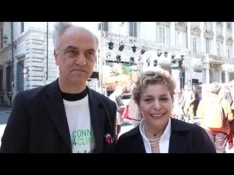 Lucia Grenna di Connect4Climate e Paolo Dieci di CISP