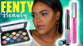 FENTY BEAUTY HOLIDAY COLLECTION | GALAXY PALETTE ON DARK SKIN