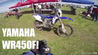 6. 2015 Yamaha WR450F Test Ride! Almost wrecked it!
