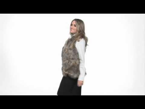 Karen Kane Feather Faux Fur Vest SKU:#8064734