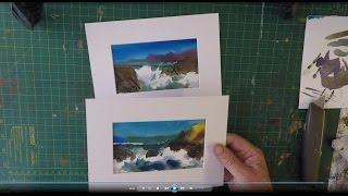 How to paint watercolour greetings card