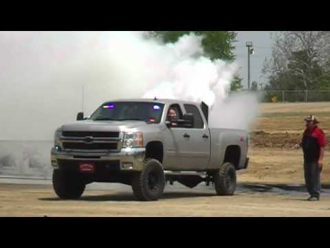 Duramax engine blows up, catches fire after burnout