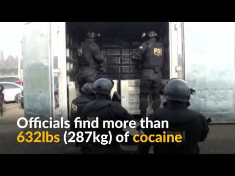 Police in Chile bust an international drug ring and seize more than 232 pounds of cocaine.