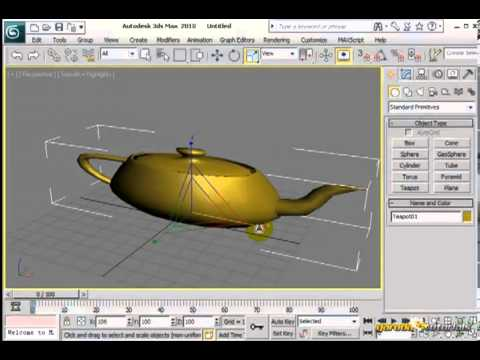 Transformasi Tool # Pengenalan Tampilan # Tutorial 3D STUDIO MAX#