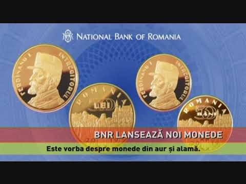 B.N.R. a lansat monede din aur și alamă