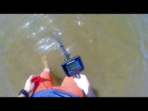 Trying out my new Makro Multi-KRUZER Metal Detector at the beach! (This is fun & relaxing!)