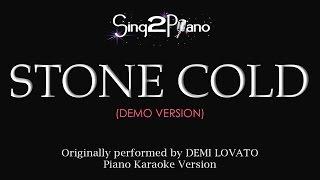 Video Stone Cold (Piano karaoke demo) Demi Lovato MP3, 3GP, MP4, WEBM, AVI, FLV Juli 2018
