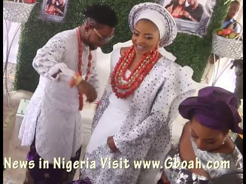 Cute Moment! Oritsefemi & His Wife, Nabila Dancing Together At Their Traditional Wedding