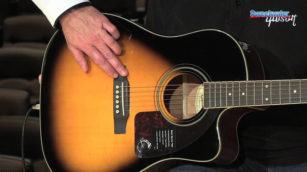 Epiphone AJ-220SCE Acoustic-electric Guitar Demo – Sweetwater Sound