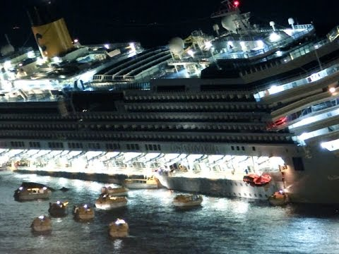 Costa Concordia крушение глазами очевидцев шок (видео)