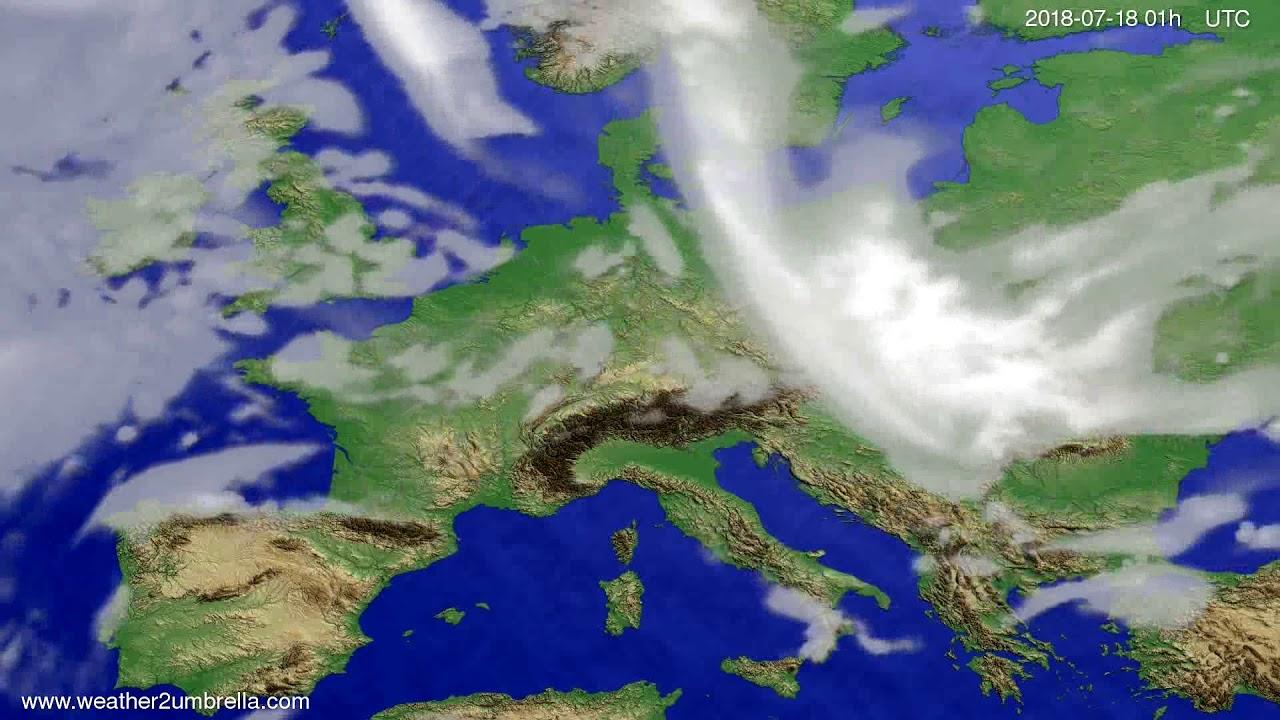 Cloud forecast Europe 2018-07-15