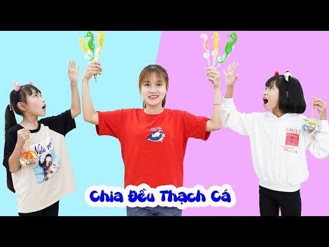 Trò Chơi Chia Đều Thạch Cá - Dạy Bé Phải Biết Nhường Nhịn Nhau ♥ Min Min TV Minh Khoa