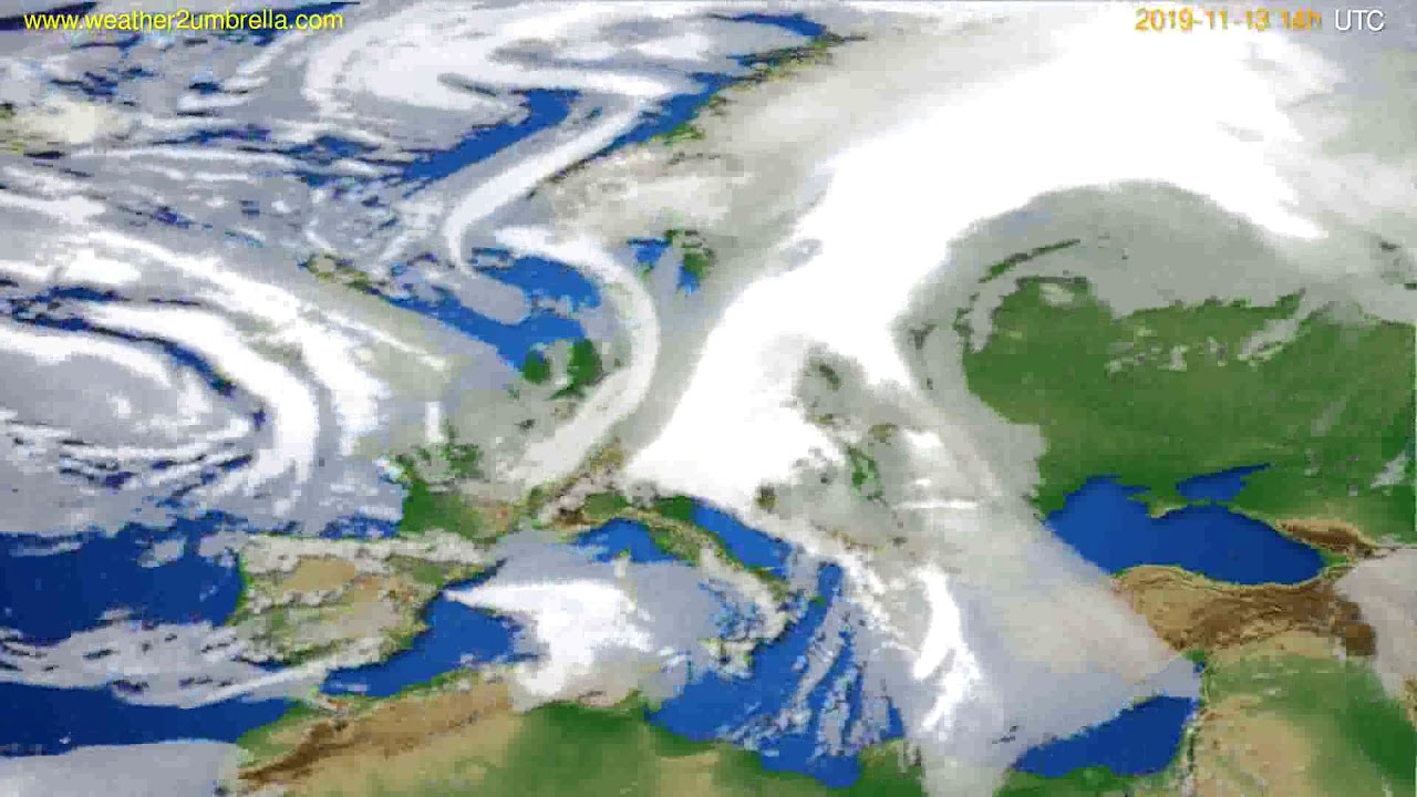 Cloud forecast Europe // modelrun: 12h UTC 2019-11-11