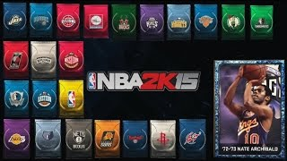 NBA 2K15 MyTeam EVERY Domination Pack Reward + Sapphire Nate Archibald!