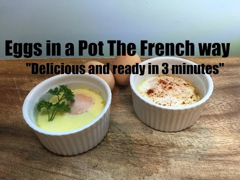 Eggs In A Pot (French Style) | Quick And Tasty Recipe