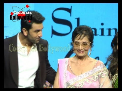 Video Watch Legend Actress Sadhana with Ranbir Kapoor walk the ramp for Shaina NC's Fashion Show ''Golden download in MP3, 3GP, MP4, WEBM, AVI, FLV January 2017