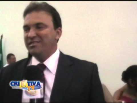Val e Zane Andrade na posse de vereador em Amargosa
