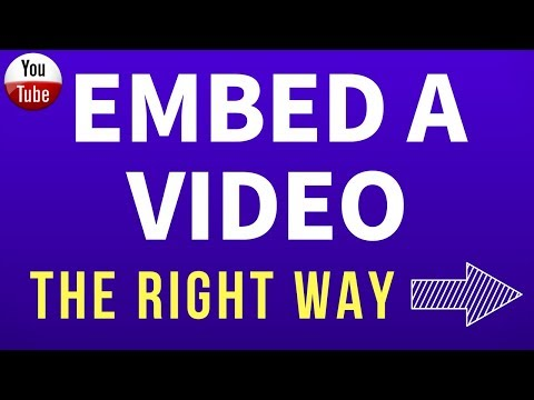 How To Embed A YouTube Video | 2014