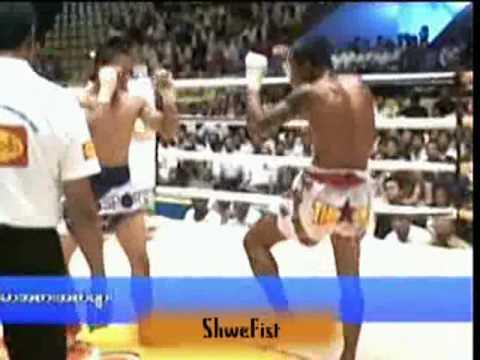 Myanmar lethwei(Tway McShawn) vs Muay Thai(Par Wee), 1/3