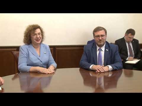 Игорь Додон принял делегацию Парламента России