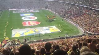 Arsenal vs Aston villa (Fa cup final 2015) Arsenal fans end. National anthem!!! 30-5-2015, Arsenal vs Aston Villa, Arsenal 4-0 Aston Villa, CHUNG KẾT FA CUP