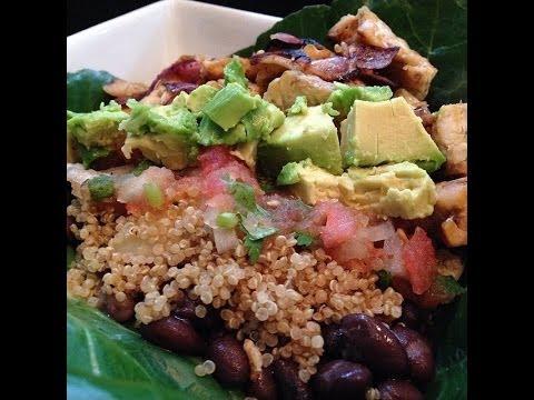 Healthy Burrito Bowl – HASfit Healthy Mexican Recipes – Healthy Taco Salad – Clean Eating
