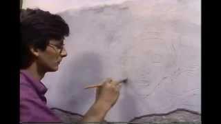 Michelangelo's fresco painting technique