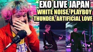 Video EXO White Noise + Thunder + PLAYBOY + Artificial Love | REACTION!! MP3, 3GP, MP4, WEBM, AVI, FLV Februari 2019
