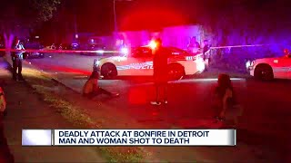 Two people were shot and killed overnight during an ambush at a bonfire party in Detroit. It happened around midnight near Harry...