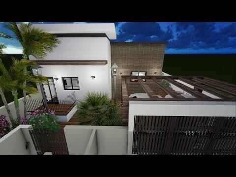 תכנון אדריכלי לבית פרטי חד קומתי בקרית גת