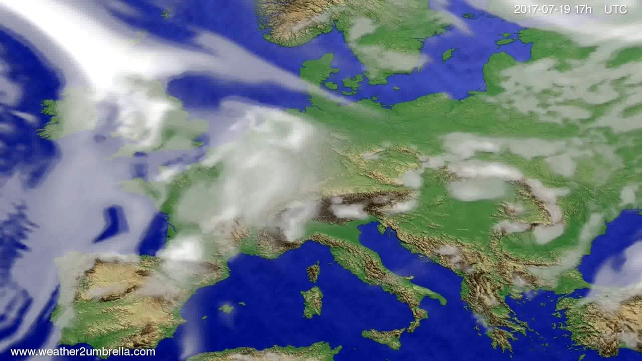 Cloud forecast Europe 2017-07-17