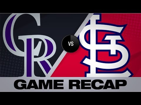 Video: Bats, Hudson propel Cardinals to shutout win | Rockies-Cardinals Game Highlights 8/24/19