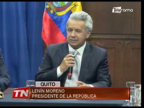 Presidente Moreno reitera injerencia desde el exterior en protestas