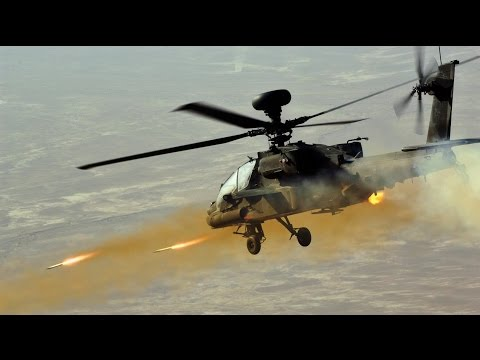 AH-64 Apache Helicopter In Action...