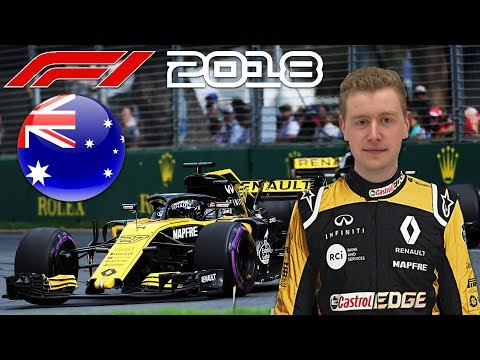 F1 2018 Game Career Mode Part 1 - Australian Grand Prix